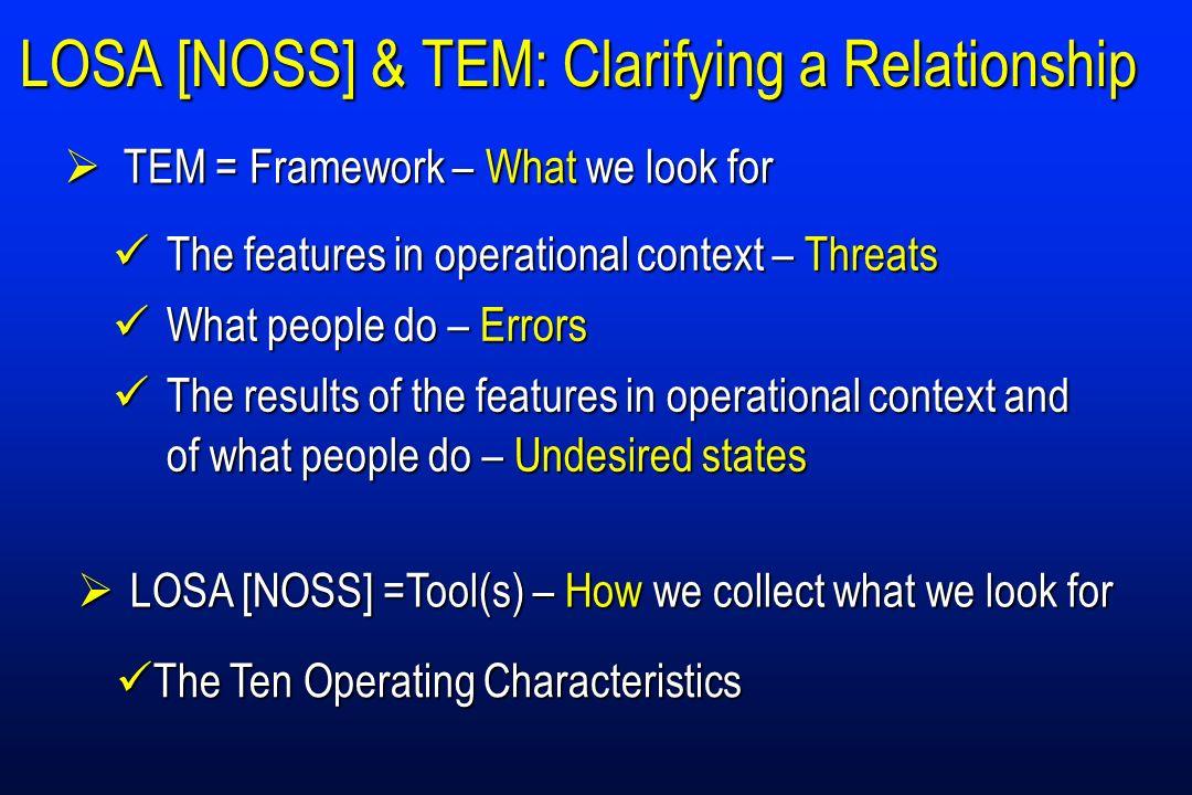 LOSA [NOSS] & TEM: Clarifying a Relationship